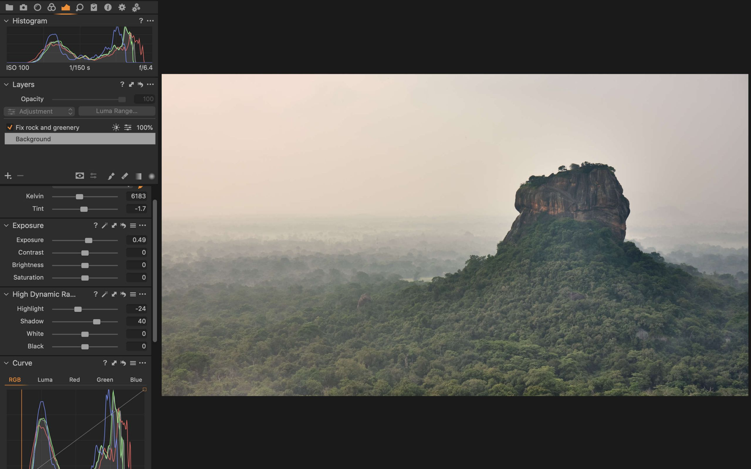 Capture One how to rescue an image