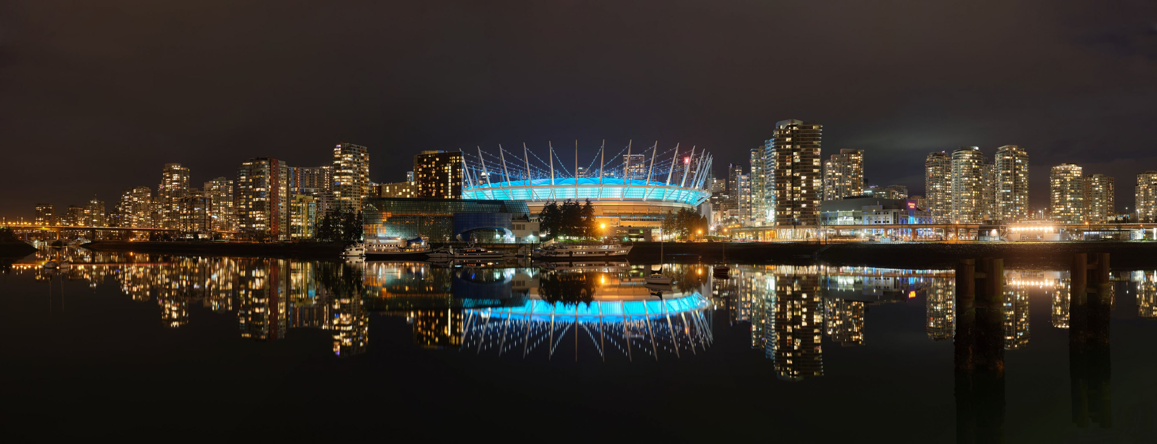 B.C. Place and Vancouver night skyline
