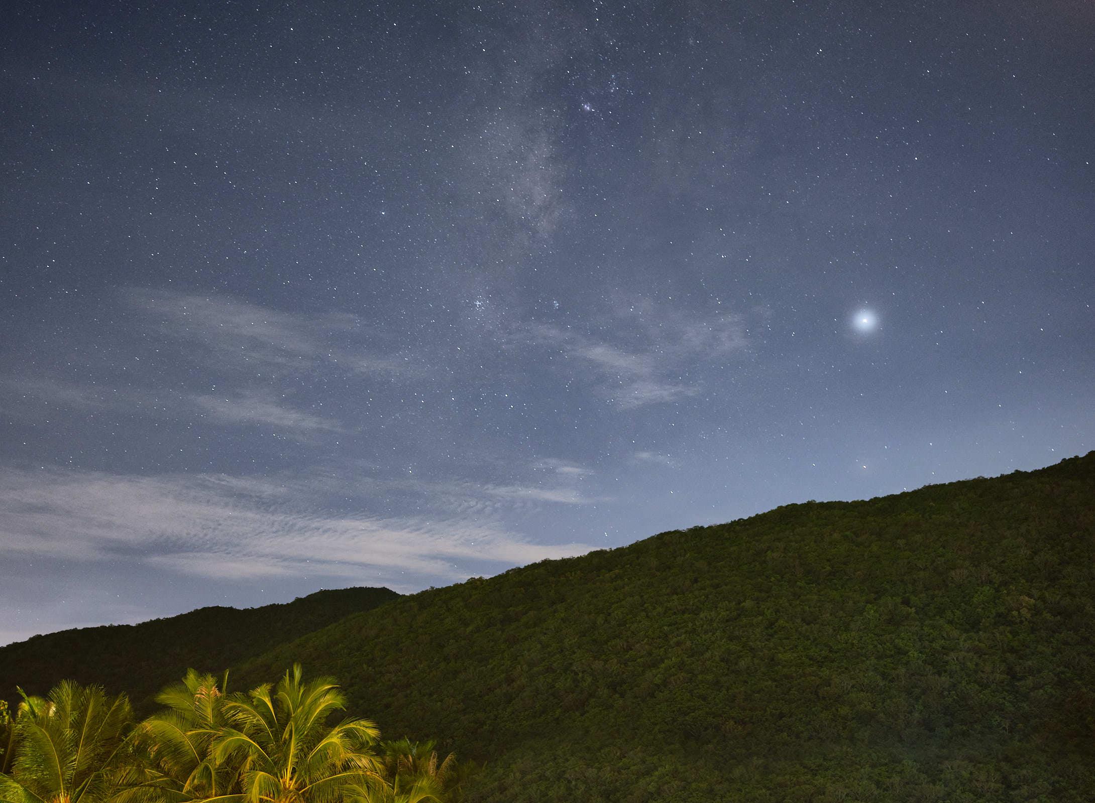 Night sky Sanya