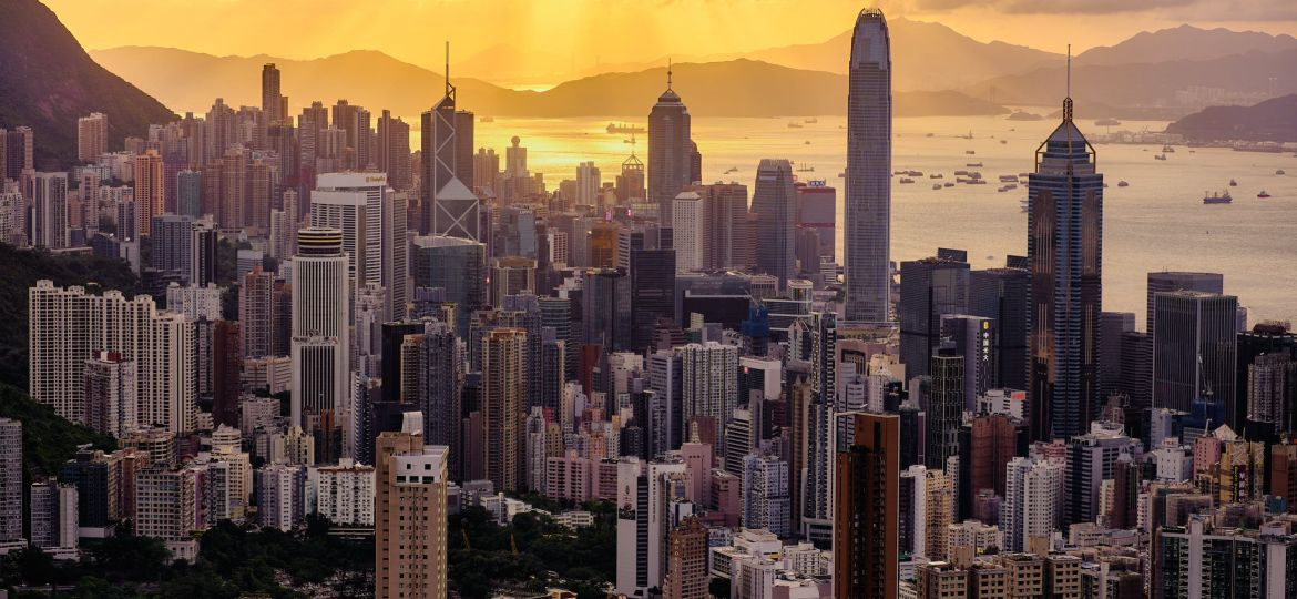Sunset over Hong Kong from Jardine Lookout