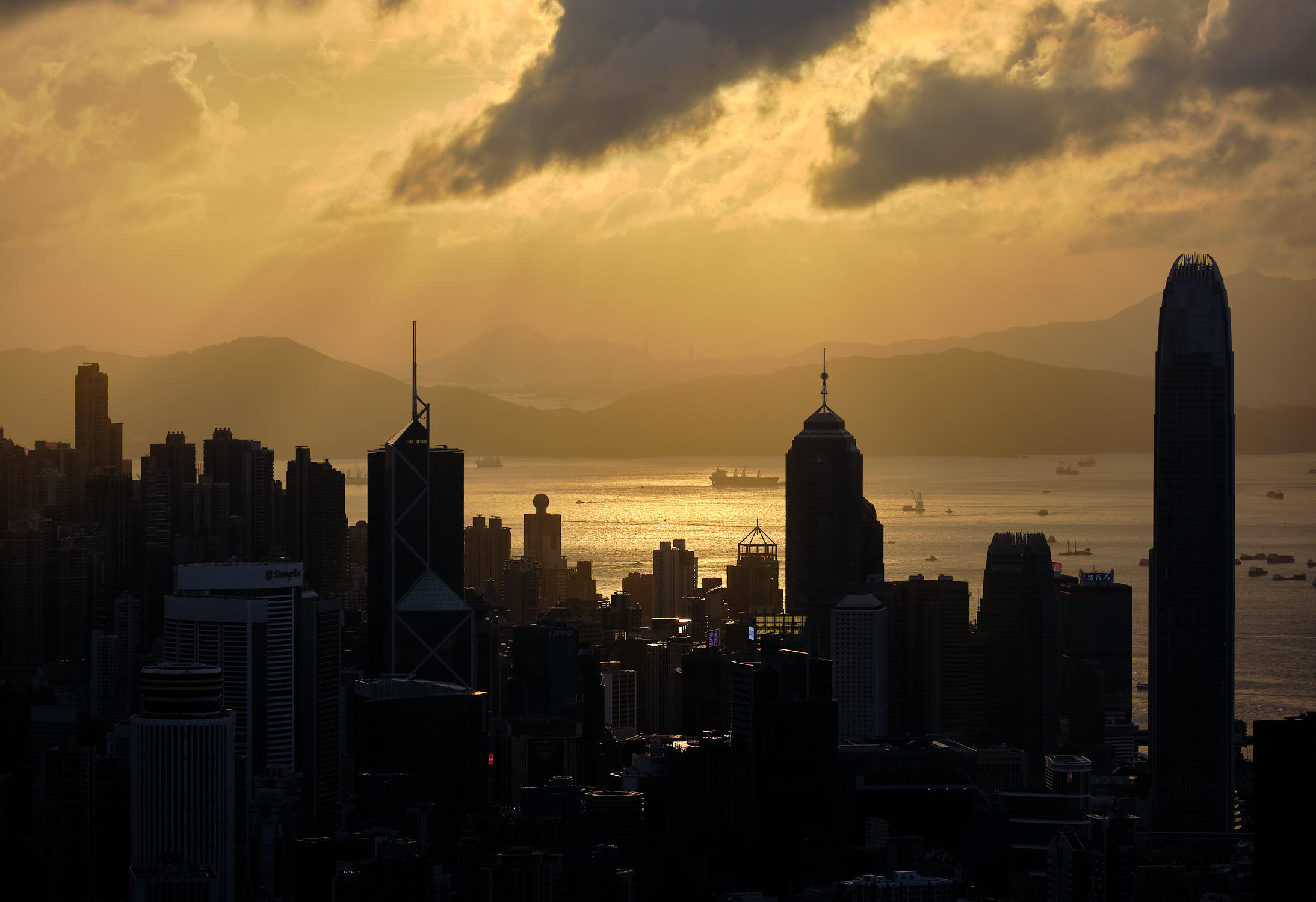 Hong Kong sunset from Jardine's Lookout