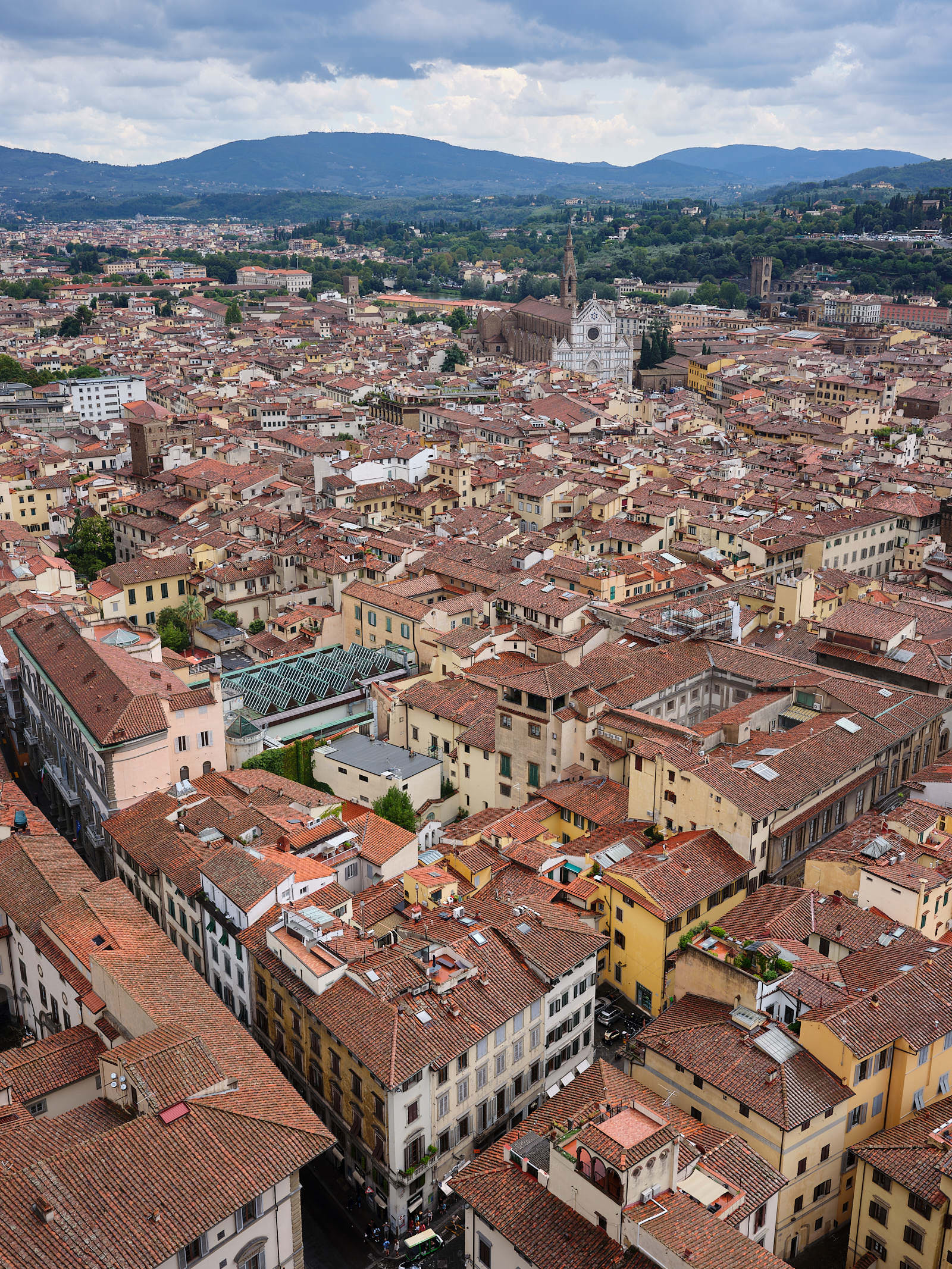 City view from top of Duomo Florence