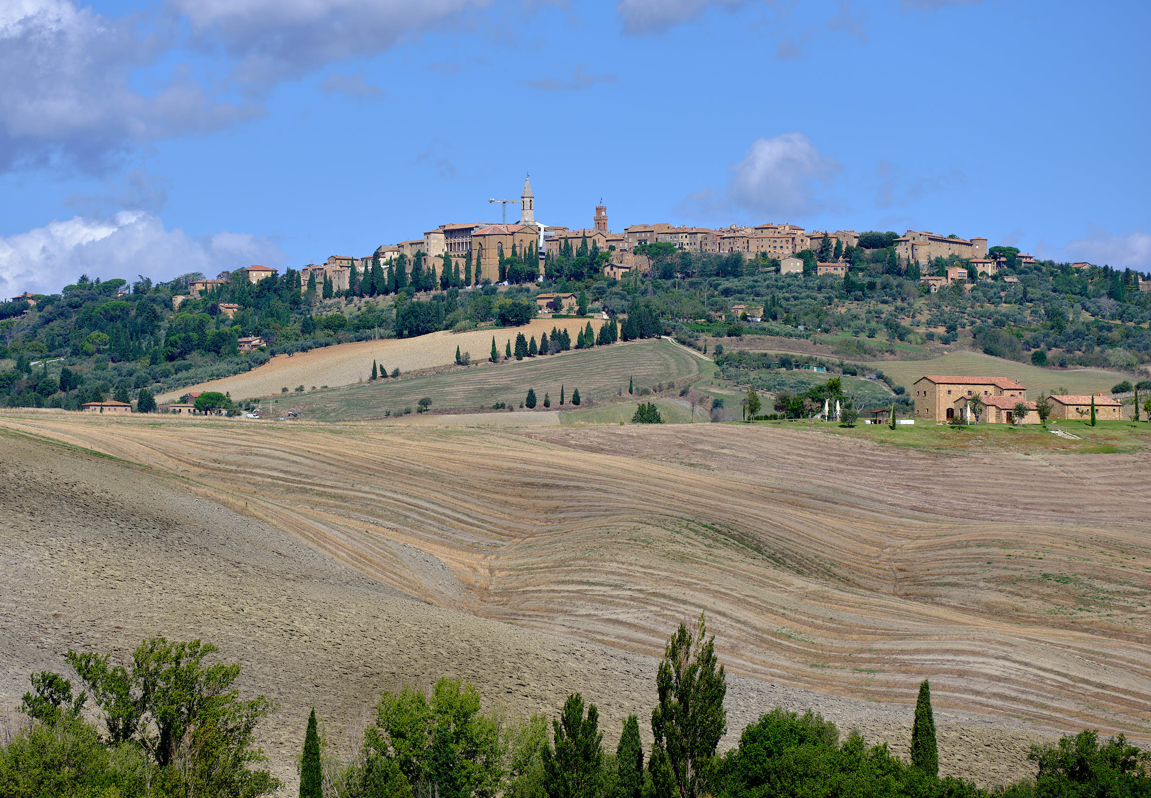Historic town, Val d'Orcia, Tuscany