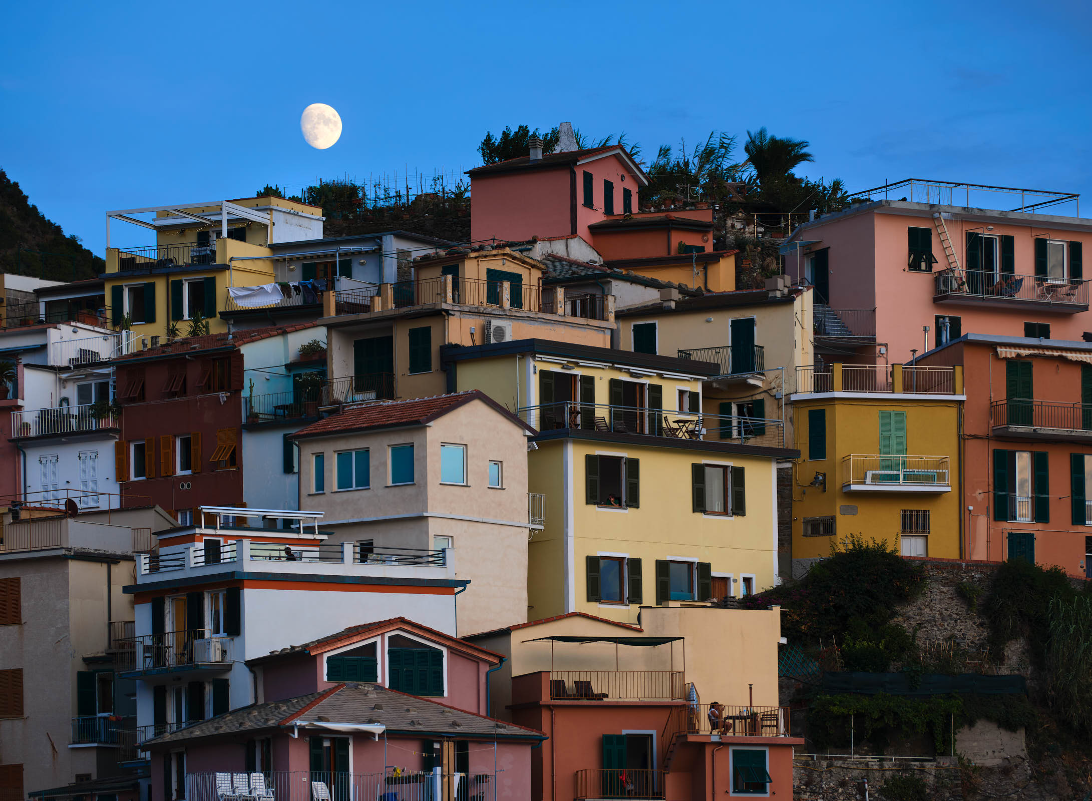 Moonrise at Manarola, Cinque Terre