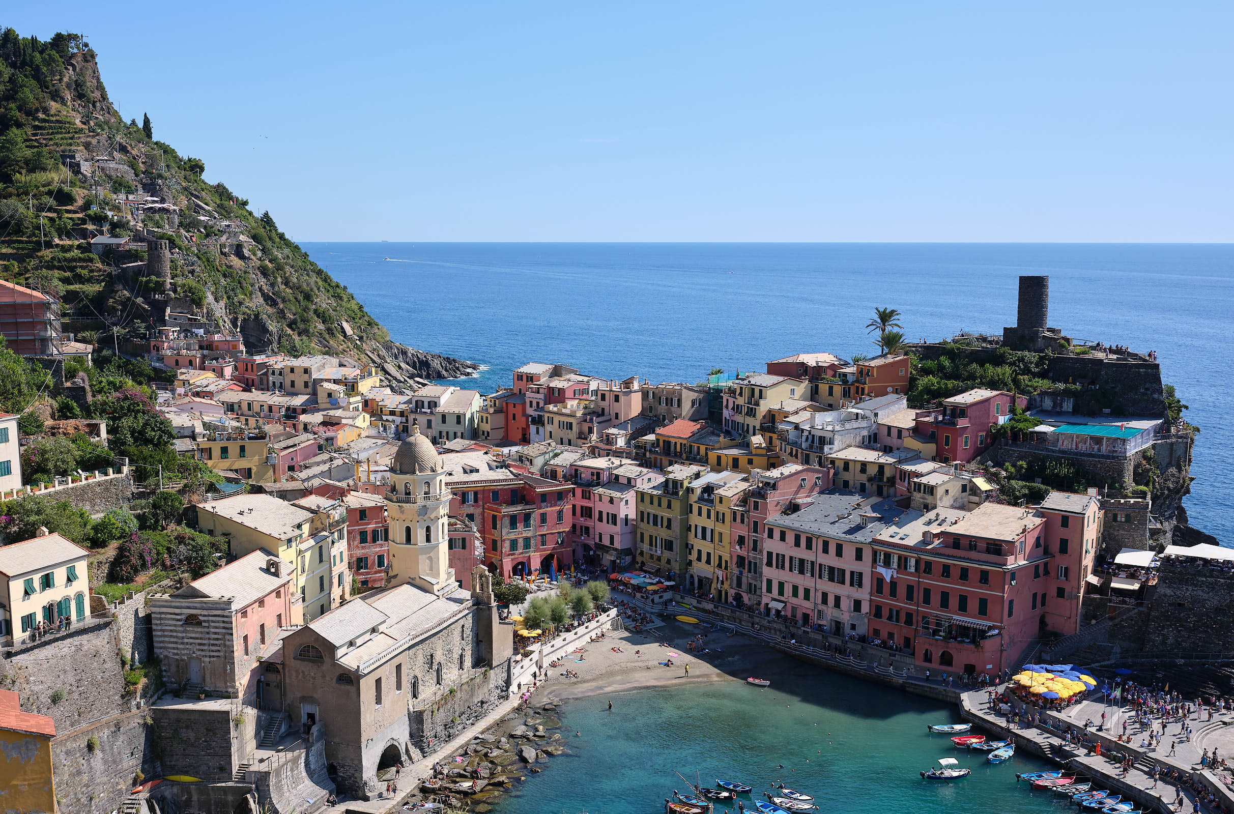 Vernazza from the hiking trail, Cinque Terre