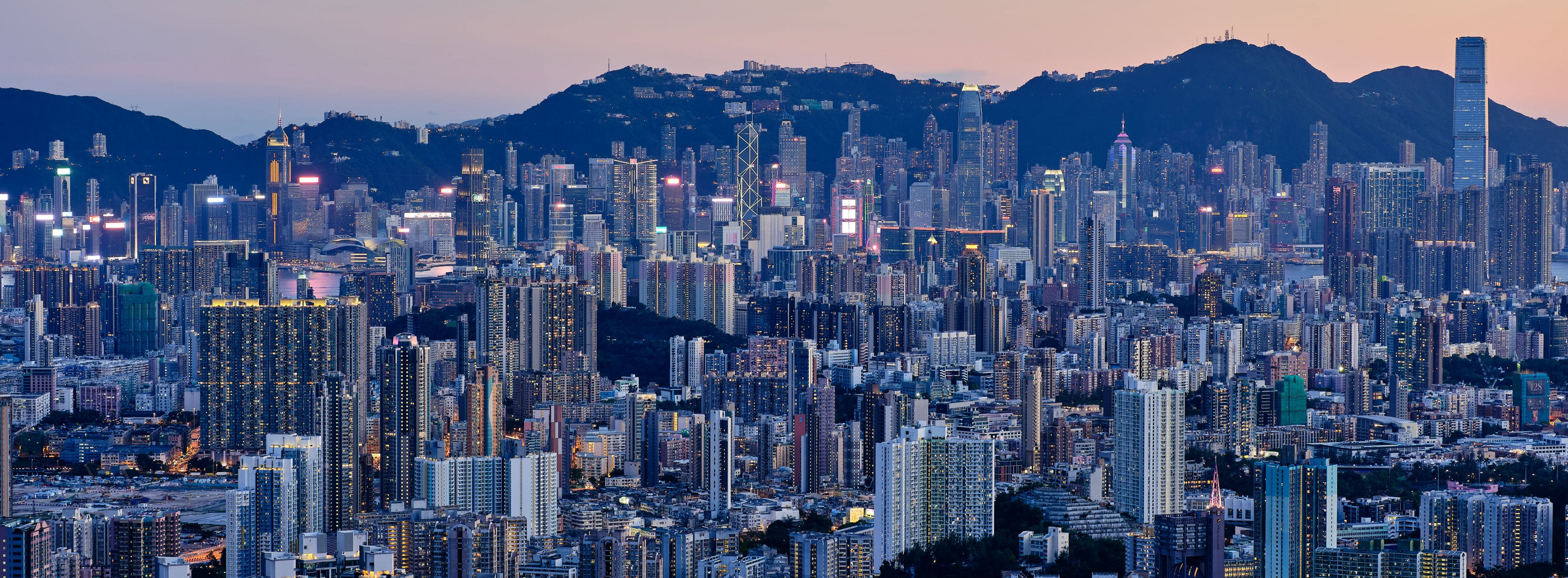XPan Hong Kong blue hour skyline