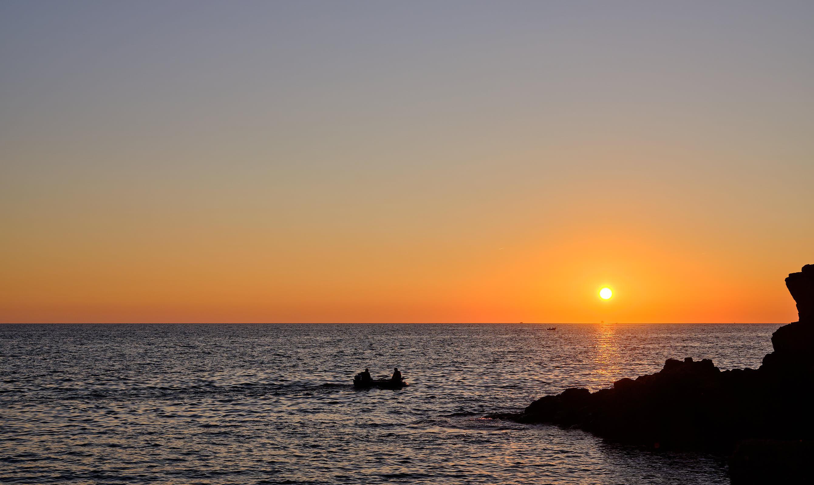 Sunset from Riomaggiore, Cinque Terre