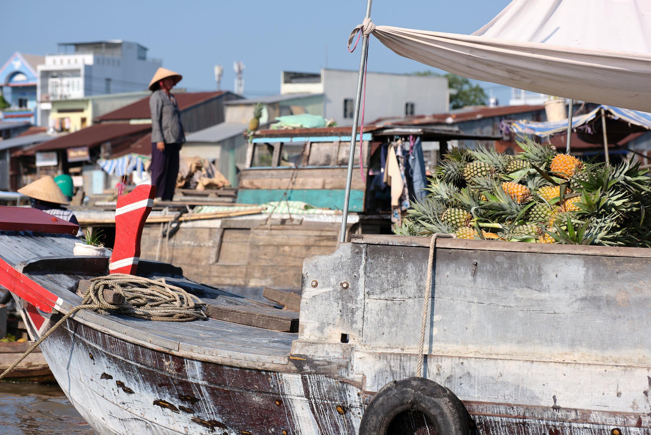 Watermelon sales at Cai Rang Floating Market