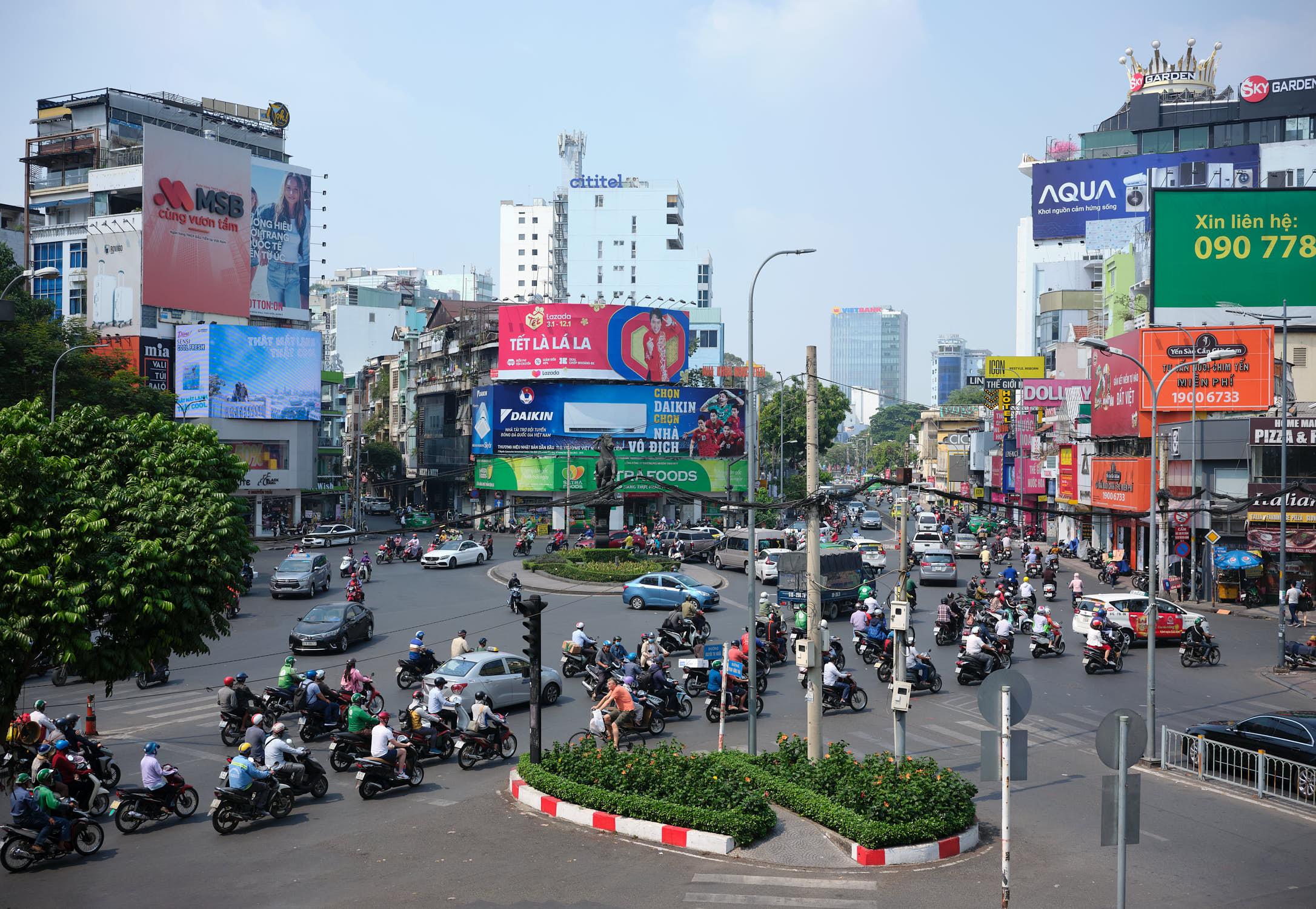 Busy intersection Saigon