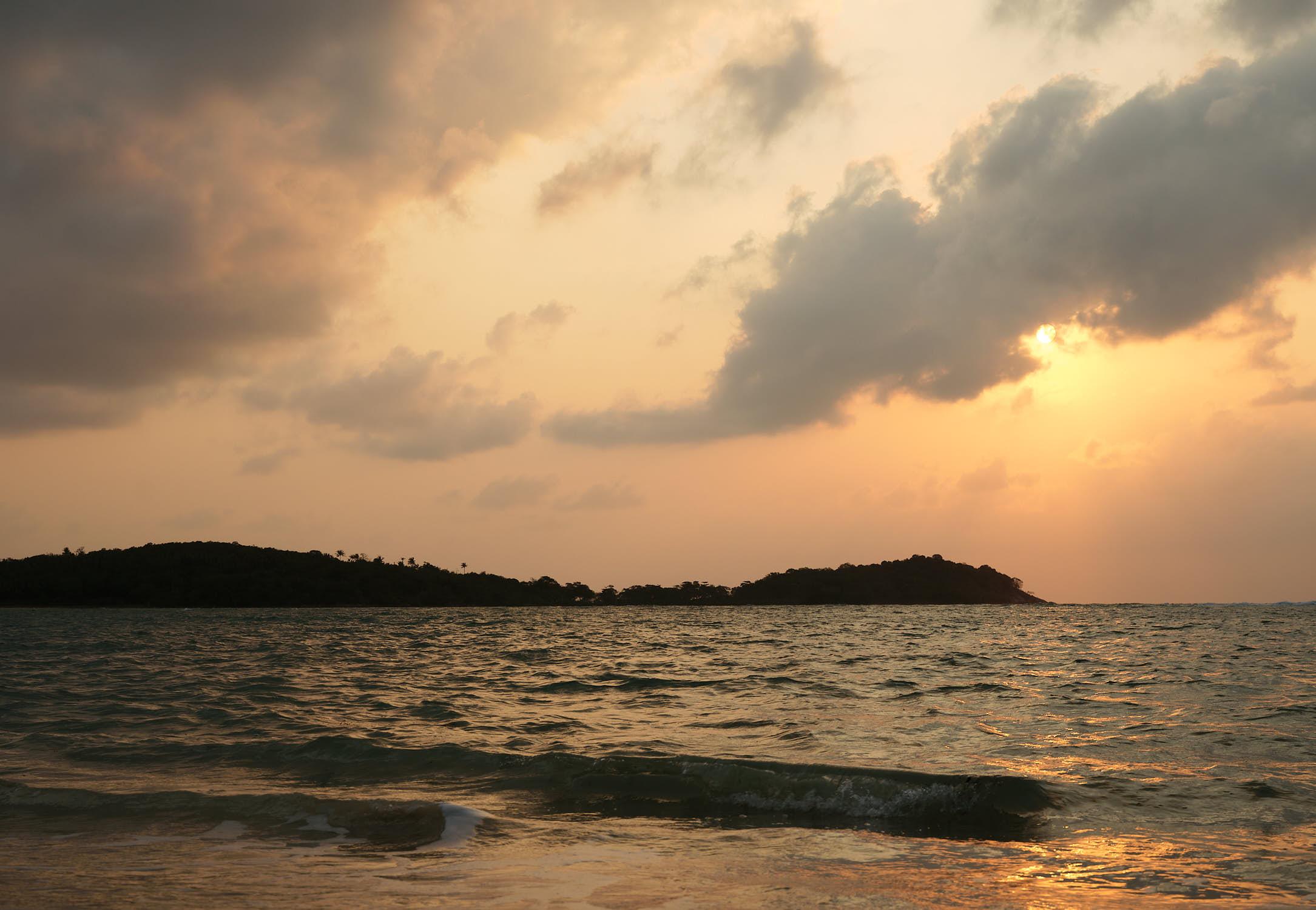 Ocean sunrise Koh Samui