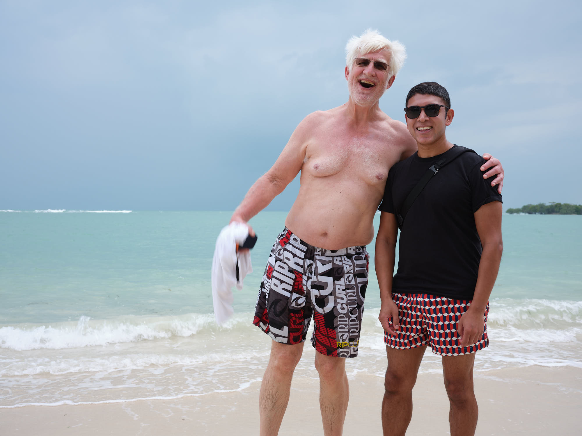 Photobombed at the beach in Koh Samui