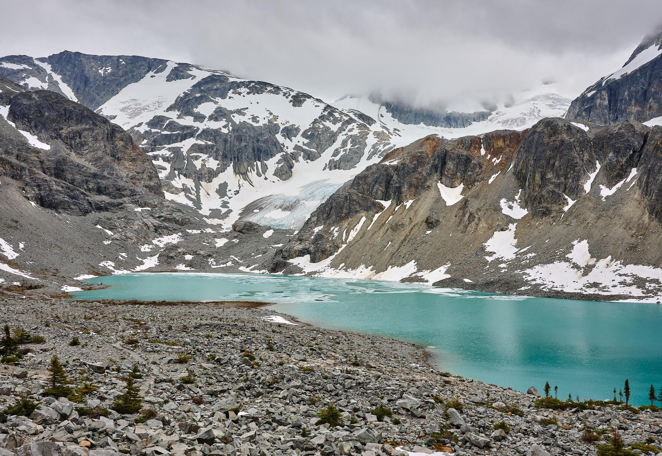 Glacier Wedgemount Lake, Whistler