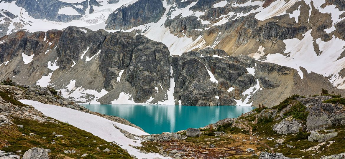 Wedgemount Lake, a glacier lake in Whistler