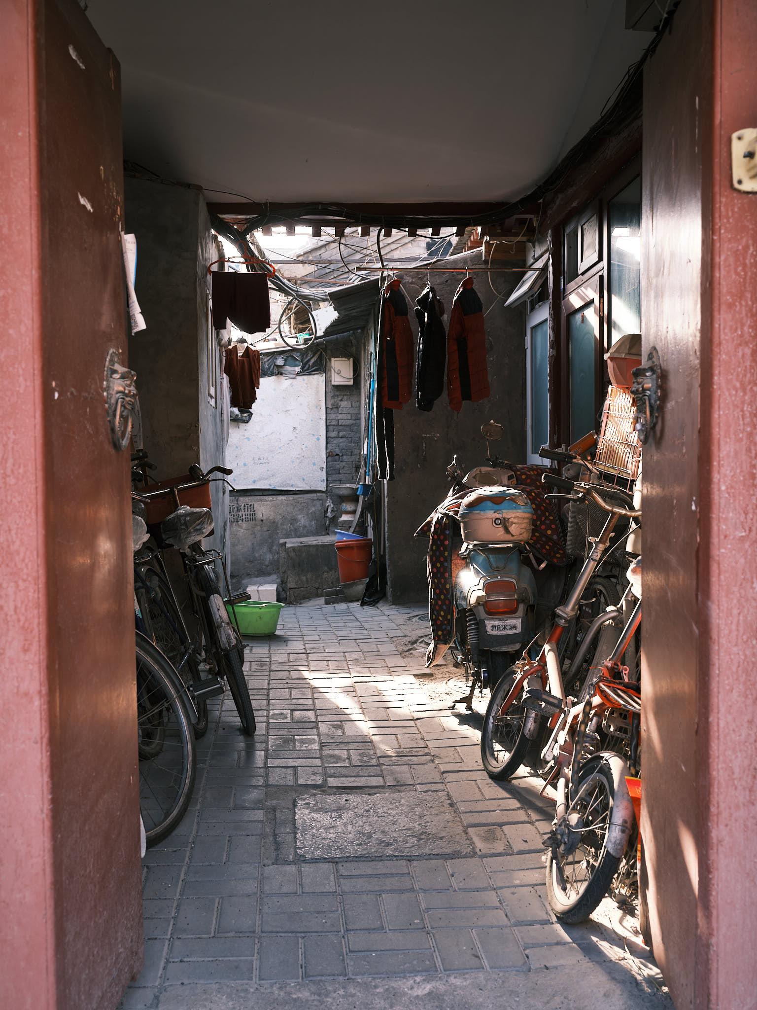 Entrance to hutong in Qianmen Beijing