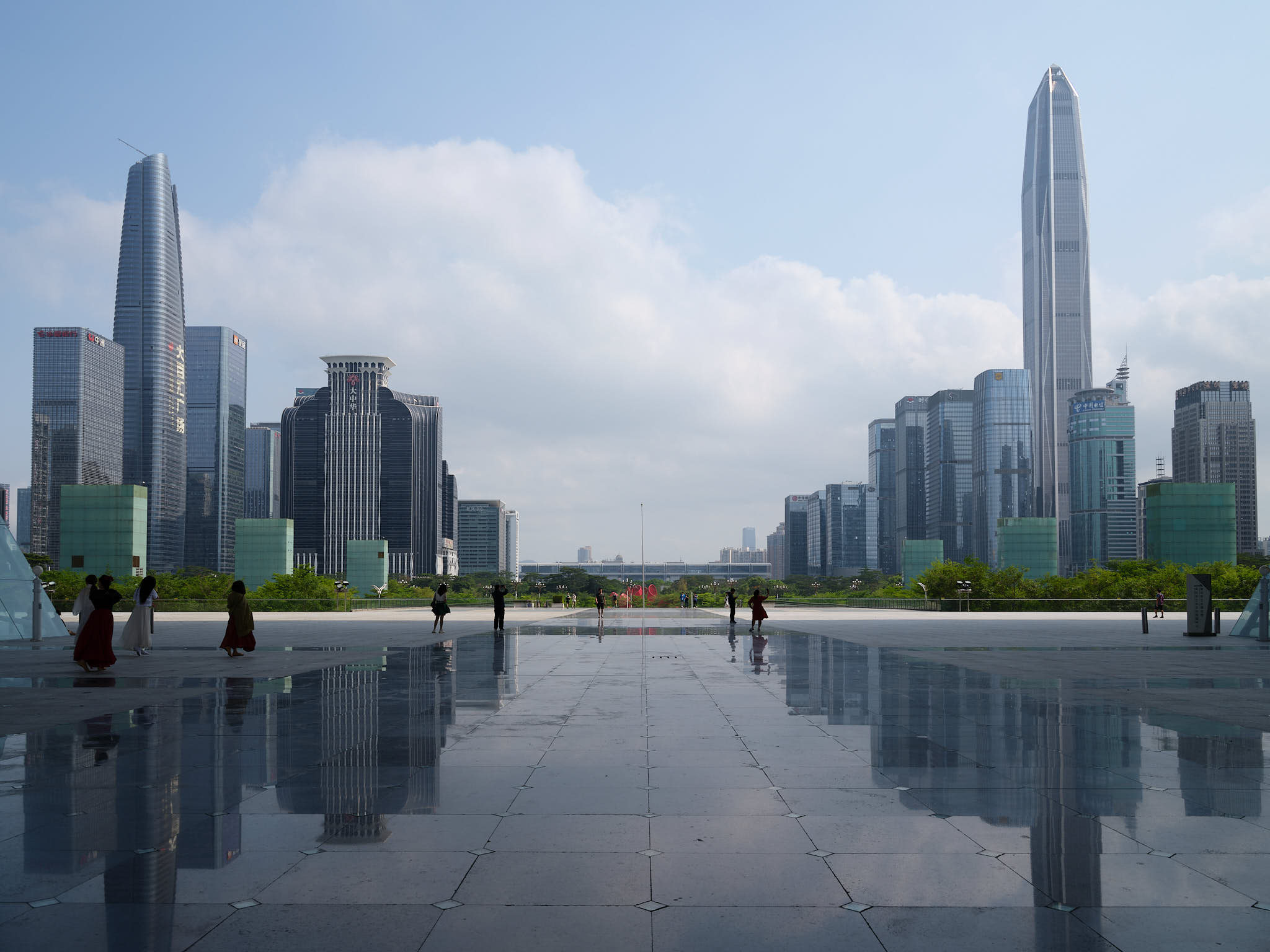 View of Shenzhen skyline from cultural center