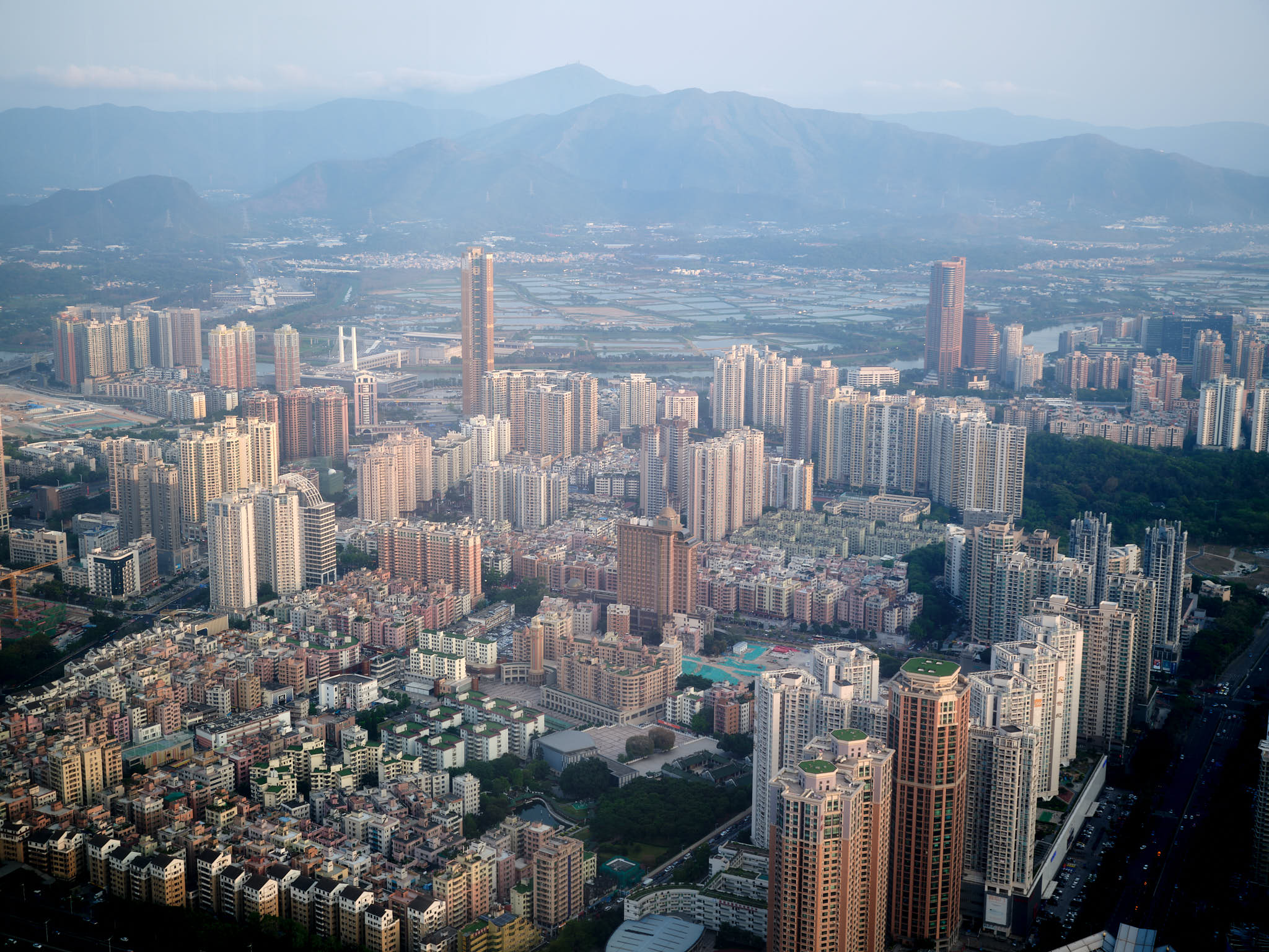 View from the 107th floor of Ping\'An Center Shenzhen