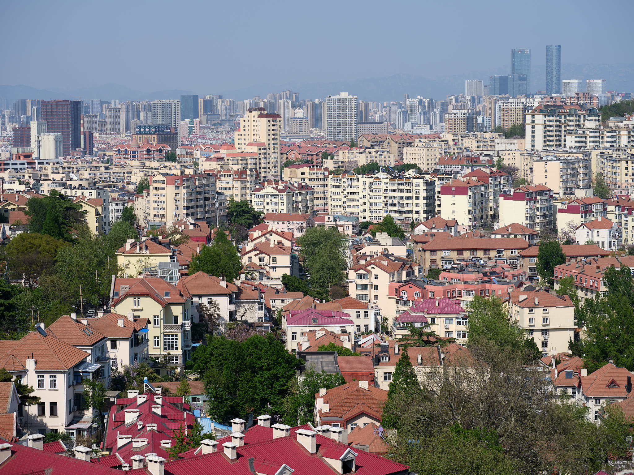 View of Qingdao from Signal Hill