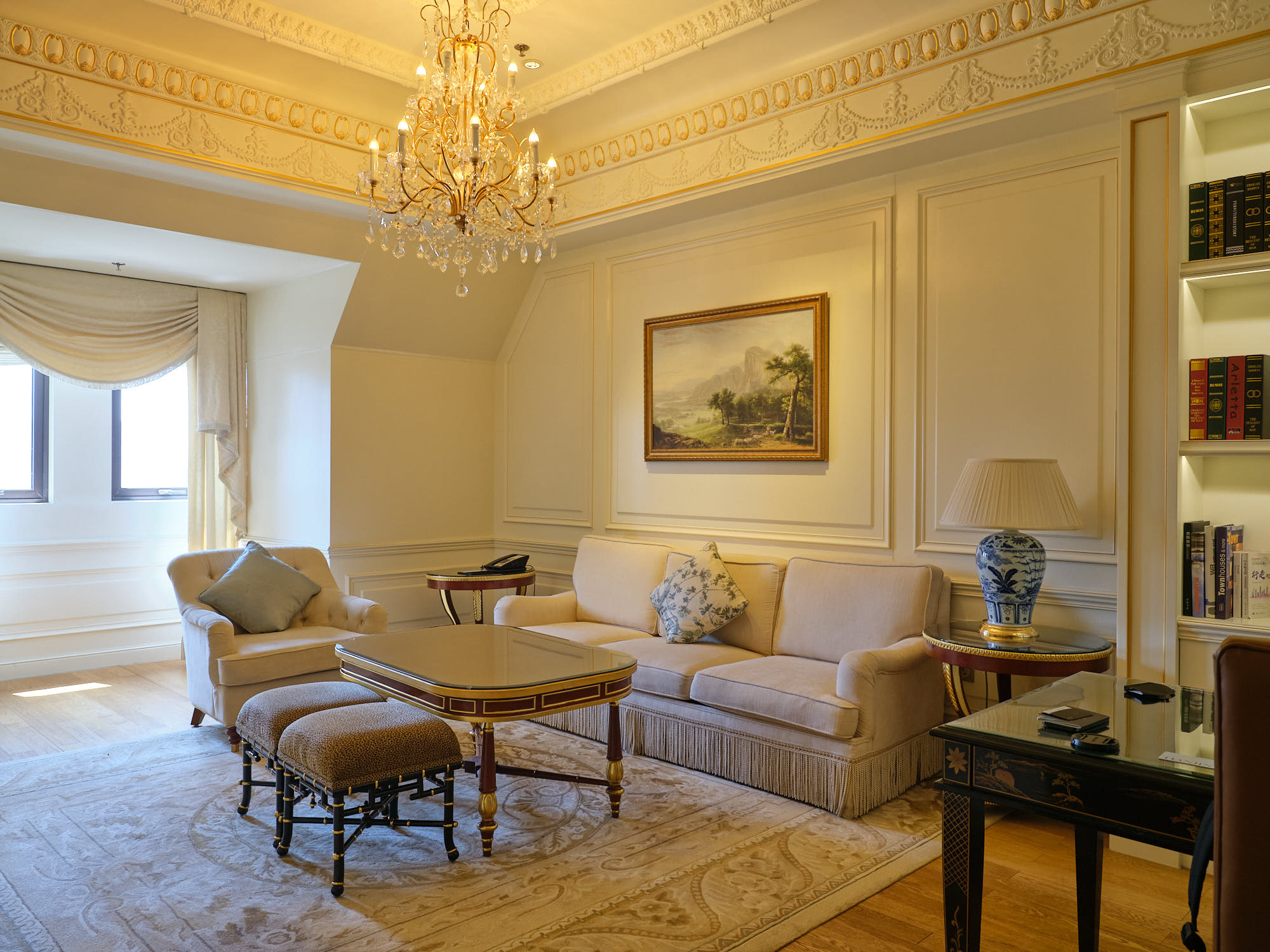 Living room Victoria suite at the Ritz Carlton Tianjin