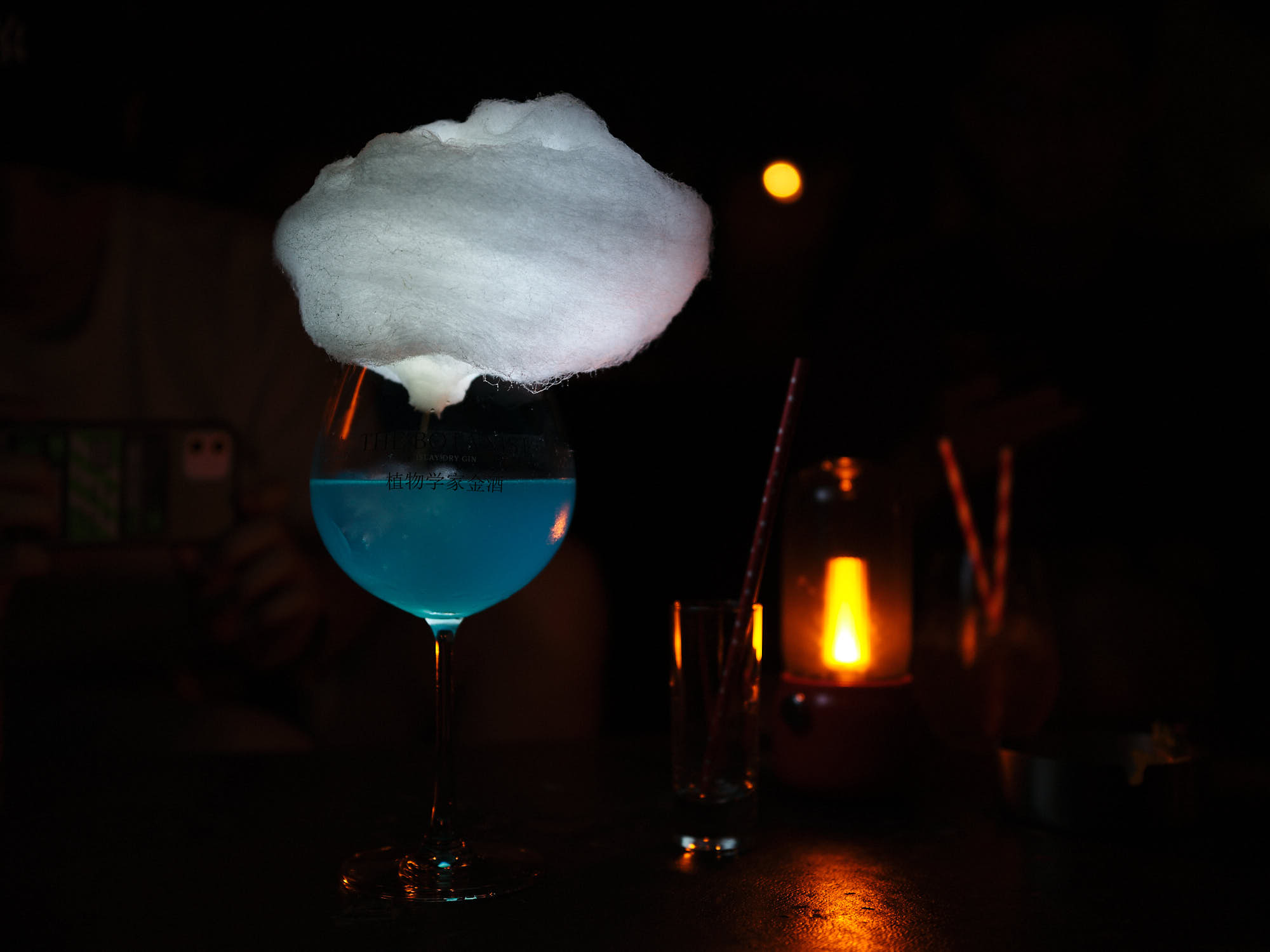 Crazy cotton candy drink in Tianjin, China