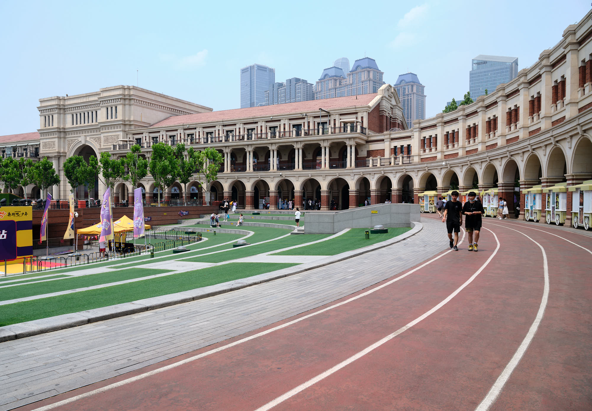 Outdoor running track in Tianjin, China