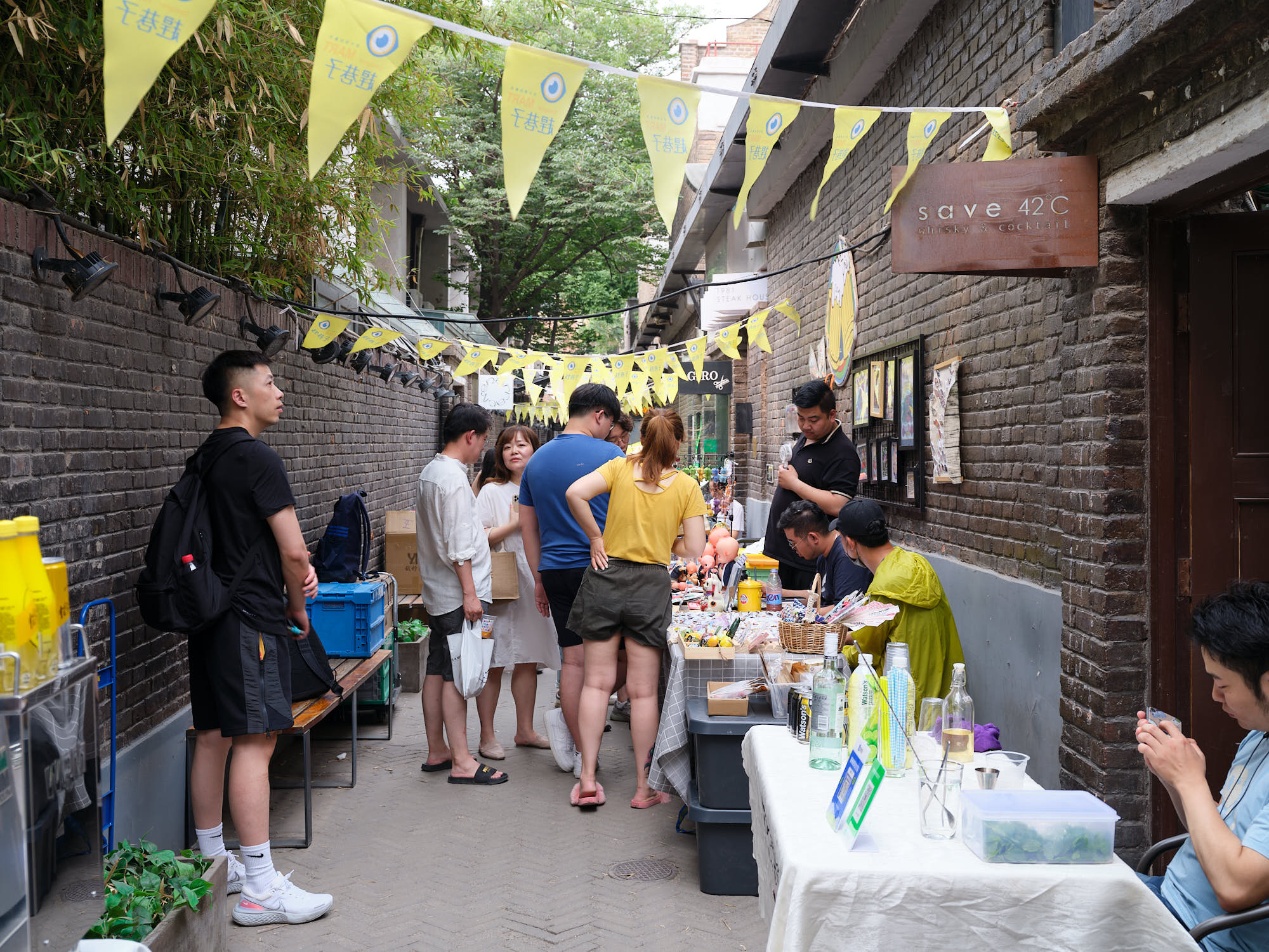 Alley market in Tianjin, China