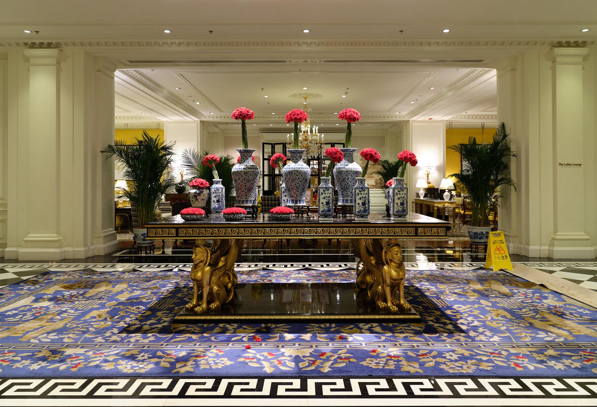 Interior lobby of the Ritz Carlton Tianjin, China
