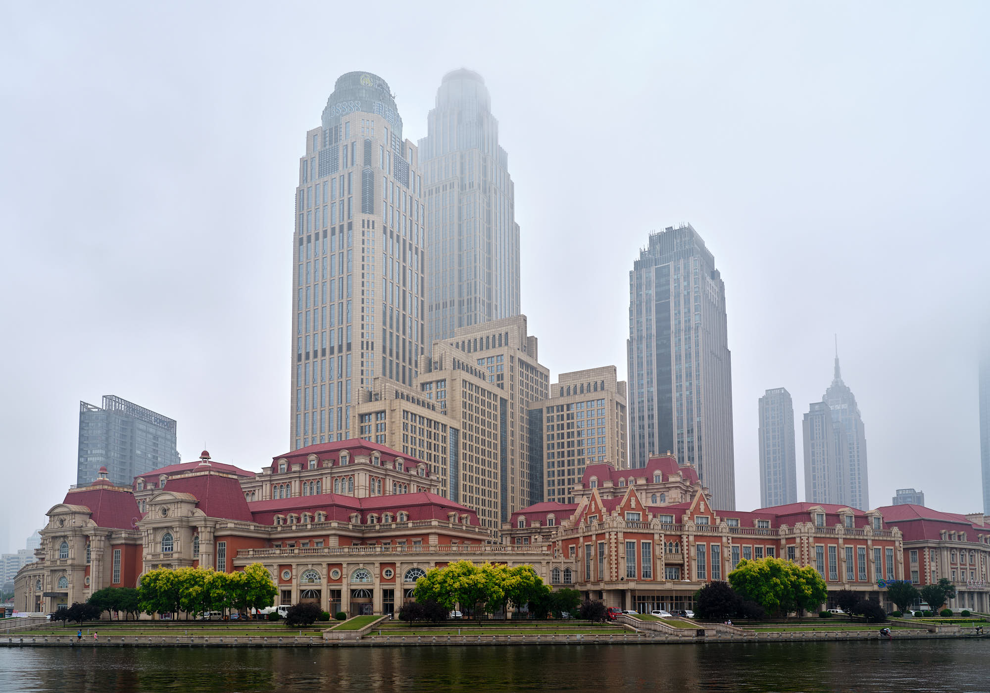Haihe River architecture in Tianjin, China