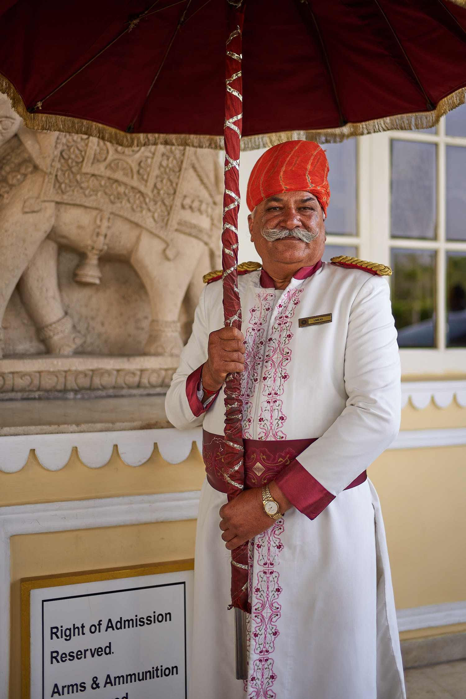 Door man at a palace hotel in Jaipur