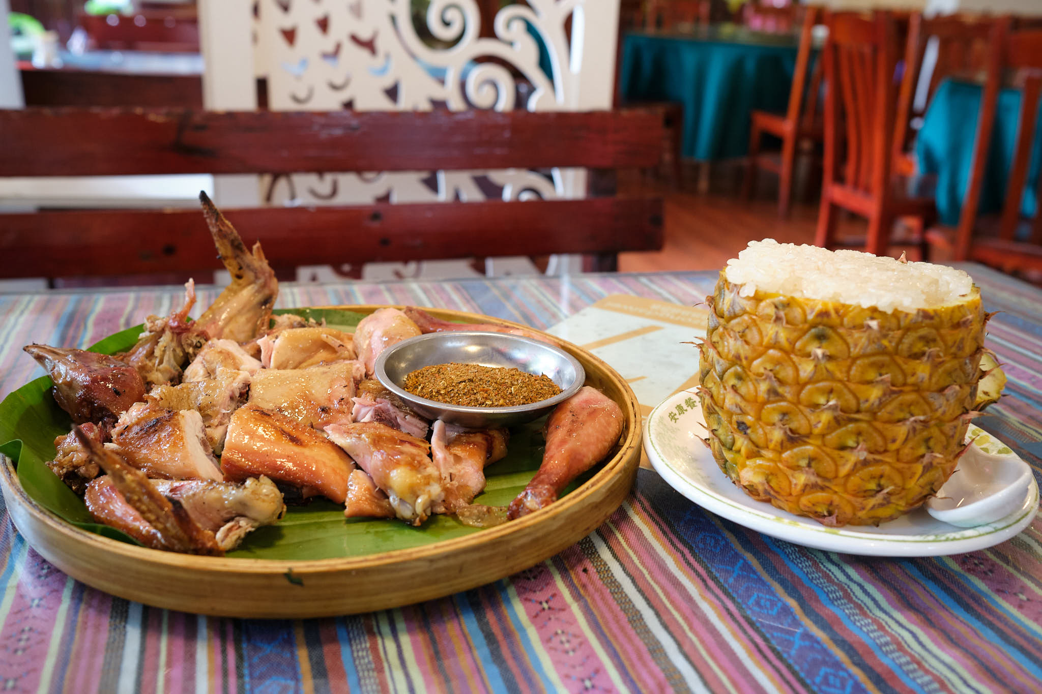 Fried chicken and pineapple rice - Dai ethnic cuisine
