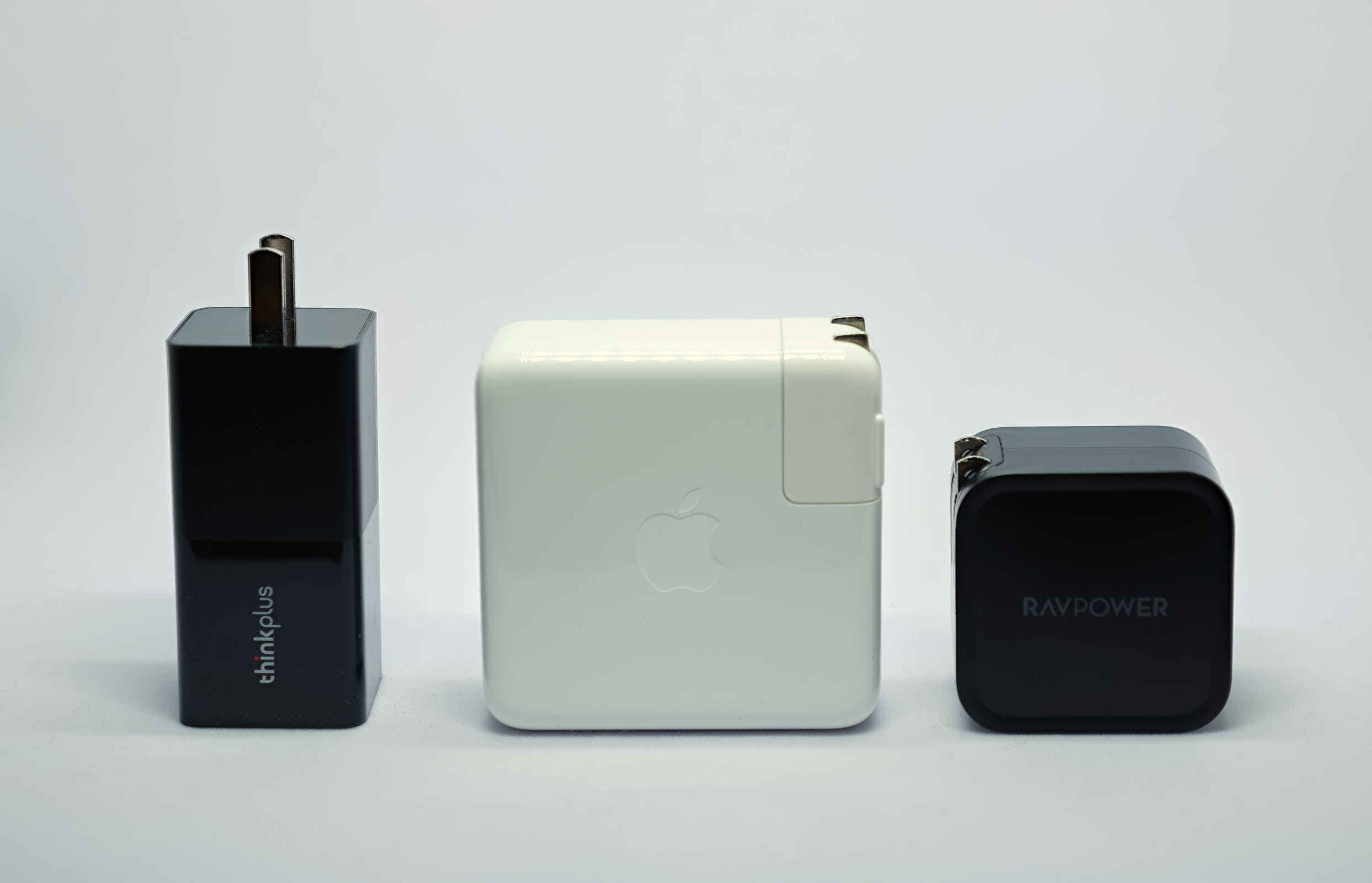 Thinkplus GaN vs. Apple vs. RAVPower GaN Chargers